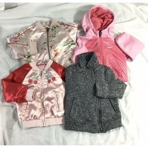 Other - 4 Infant Girls Jackets Lot 18 Months Mixed Brands